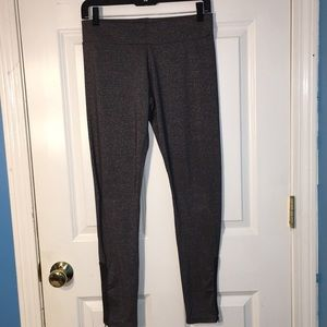 Free People Gray Glitter Leggings with Zippers